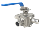 3 Way Sanitary Ball Valve